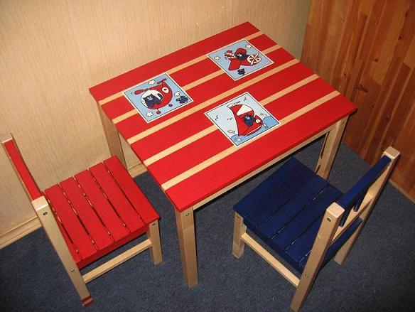 Детский столик декор своими руками